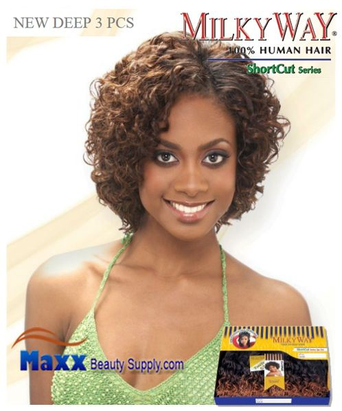 MilkyWay Human Hair Weave Short Cut Series - New Deep 3pcs